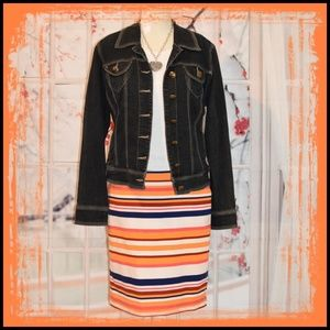 Ami Jackets & Coats - Spectacular Dark Wash Denim Jacket